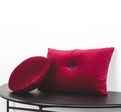 VELVET CUSHION-burgundy