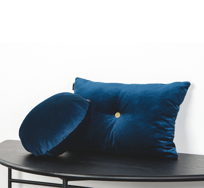 VELVET CUSHION-navy