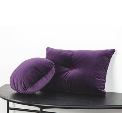 VELVET CUSHION-purple