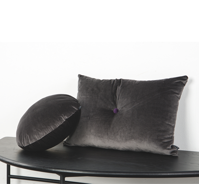 VELVET CUSHION-gray