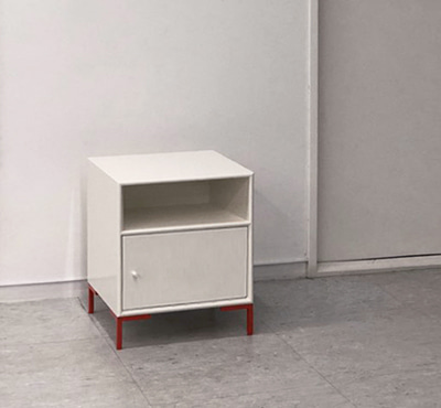 MINI SIDE BOARD - WHITE & ORANGE