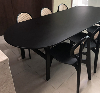 BLACK OAK TABLE 2400