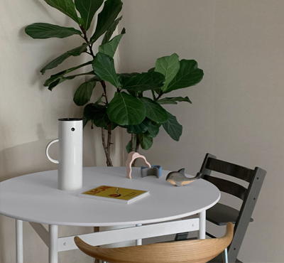 FENIX, ROUND TABLE - white steel